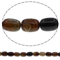 Natürliche Kaffee Achat Perlen, Zylinder, 13x18mm, Bohrung:ca. 1mm, Länge:ca. 15 ZollInch, 10SträngeStrang/Menge, ca. 22PCs/Strang, verkauft von Menge
