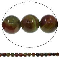 Zwei Ton Achat Perlen, Zweifarbiger Achat, rund, verschiedene Größen vorhanden, Bohrung:ca. 1mm, Länge:ca. 15 ZollInch, verkauft von Menge