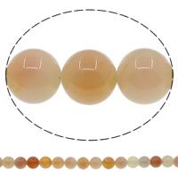 Natürliche Kaffee Achat Perlen, rund, verschiedene Größen vorhanden, Bohrung:ca. 1mm, Länge:ca. 15 ZollInch, verkauft von Menge