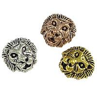 Zinklegierung Großes Loch Perlen, Löwe, plattiert, Schwärzen, keine, frei von Nickel, Blei & Kadmium, 12x13x9mm, Bohrung:ca. 2mm, 50PCs/Menge, verkauft von Menge