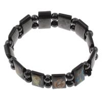 Non- magnetische Hämatit Armband, Epoxidharzklebstoff, schwarz, 6mm, 17x10x5mm, verkauft per ca. 7.5 ZollInch Strang