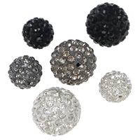 Halb gebohrte Strass Perlen, Ton, rund, verschiedene Größen vorhanden & halbgebohrt, keine, Bohrung:ca. 1mm, 100PCs/Menge, verkauft von Menge
