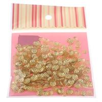 Eisen Perlenkappen, Blume, goldfarben plattiert, hohl, frei von Nickel, Blei & Kadmium, 7x1mm, 100x170mm, Bohrung:ca. 1mm, 1000PCs/Tasche, verkauft von Tasche