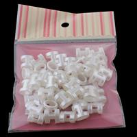 ABS Kunststoff Diacharme, Nachahmung Perle, weiß, 14x13x9mm, 100x170mm, Bohrung:ca. 9x5mm, 50PCs/Tasche, verkauft von Tasche