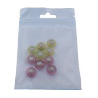 European Kristall Perlen, Rondell, einadriges Kabel Messing ohne troll & facettierte, gemischte Farben, 13.5x8mm, Bohrung:ca. 5mm, 10PCs/Tasche, verkauft von Tasche
