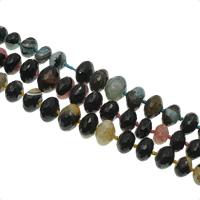 Achat Perlen, rund, abgestufte Perlen & facettierte, keine, 11x6mm-22x14mm, Bohrung:ca. 1mm, ca. 43PCs/Strang, verkauft per ca. 20.4 ZollInch Strang