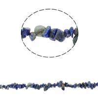 Edelstein-Span, natürlicher Lapislazuli, Bruchstück, 5-8mm, Bohrung:ca. 0.8mm, ca. 260PCs/Strang, verkauft per ca. 33.8 ZollInch Strang