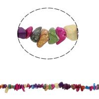 Edelstein-Span, Synthetische Türkis, Klumpen, gemischte Farben, 5-8mm, Bohrung:ca. 0.8mm, ca. 260PCs/Strang, verkauft per ca. 34.6 ZollInch Strang