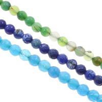 Achat Perlen, rund, facettierte, keine, 6mm, Bohrung:ca. 1mm, Länge:ca. 15 ZollInch, 5SträngeStrang/Tasche, ca. 65PCs/Strang, verkauft von Tasche