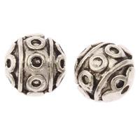Zink Legierung Perlen Schmuck, Zinklegierung, rund, antik silberfarben plattiert, frei von Nickel, Blei & Kadmium, 8mm, Bohrung:ca. 1mm, ca. 667PCs/kg, verkauft von kg