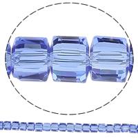 Kubische Kristallperlen, Kristall, Würfel, facettierte, mehrere Farben vorhanden, 8x8x8mm, Bohrung:ca. 1mm, Länge:ca. 29.1 ZollInch, 10SträngeStrang/Tasche, ca. 100PCs/Strang, verkauft von Tasche