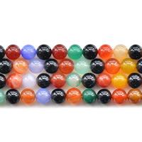 Natürliche Regenbogen Achat Perlen, rund, verschiedene Größen vorhanden, Länge:ca. 15 ZollInch, verkauft von Menge