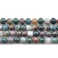 Natürliche Indian Achat Perlen, Indischer Achat, rund, verschiedene Größen vorhanden, verkauft per ca. 15 ZollInch Strang