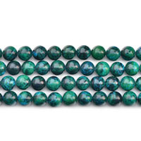 Synthetischer Chrysokoll Perle, rund, verschiedene Größen vorhanden, verkauft per ca. 15 ZollInch Strang