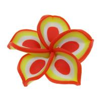 Polymer Ton Perlen , Blume, handgemacht, 30x9mm, Bohrung:ca. 1mm, 100PCs/Tasche, verkauft von Tasche