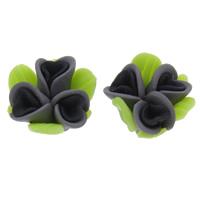 Polymer Ton Perlen , Blume, handgemacht, 15x10mm, Bohrung:ca. 1mm, 100PCs/Tasche, verkauft von Tasche