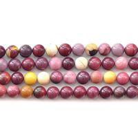 Dotter Stein Perlen, rund, natürlich, verschiedene Größen vorhanden, Länge:ca. 15 ZollInch, verkauft von Menge