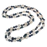 Natürliche kultivierte Süßwasserperlen Halskette, 2 strängig, 9-10mm, verkauft per ca. 45.5 ZollInch Strang