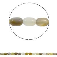 Natürliche graue Achat Perlen, Grauer Achat, Zylinder, 10x14mm, Bohrung:ca. 1mm, ca. 28PCs/Strang, verkauft per ca. 15.7 ZollInch Strang