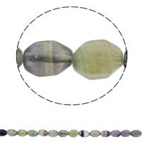lila Fluorit Perle, oval, natürlich, 10x15mm, Bohrung:ca. 1mm, 28PCs/Strang, verkauft per ca. 15.7 ZollInch Strang