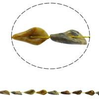 Natürliche verrückte Achat Perlen, Verrückter Achat, Blatt, 16x28x8mm, Bohrung:ca. 1mm, ca. 12PCs/Strang, verkauft per ca. 16.5 ZollInch Strang