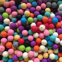Silikon-Perlen, Silikon, rund, keine, 10mm, Bohrung:ca. 2mm, 100PCs/Tasche, verkauft von Tasche