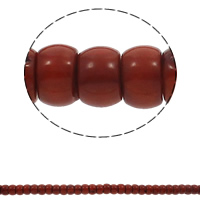 Natürliche Korallen Perlen, Trommel, rot, Grade A, 12x8mm, Bohrung:ca. 1mm, ca. 55PCs/Strang, verkauft per ca. 15.7 ZollInch Strang