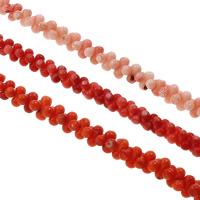 Natürliche Korallen Perlen, Hantel, keine, 8x4mm, Bohrung:ca. 1mm, ca. 145PCs/Strang, verkauft per ca. 15.7 ZollInch Strang
