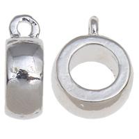 Zinklegierung Stiftöse Perlen, Trommel, Platinfarbe platiniert, verschiedene Größen vorhanden, frei von Nickel, Blei & Kadmium, 10PCs/Tasche, verkauft von Tasche