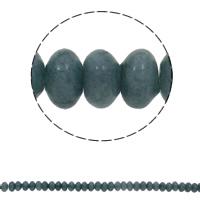 Natürliche blaue Achat Perlen, Blauer Achat, Rondell, 10x6mm, Bohrung:ca. 1.5mm, ca. 64PCs/Strang, verkauft per ca. 15.7 ZollInch Strang