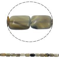 Natürliche graue Achat Perlen, Grauer Achat, Rechteck, 13x18x6mm, Bohrung:ca. 1.5mm, ca. 22PCs/Strang, verkauft per ca. 15.7 ZollInch Strang