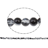 Knistern Glasperlen, Glas, rund, verschiedene Größen vorhanden & zweifarbig, Bohrung:ca. 1mm, verkauft von Tasche