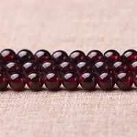 Natürlicher Granat Perlen, rund, Januar Birthstone & verschiedene Größen vorhanden, Klasse AA, Länge:ca. 15 ZollInch, verkauft von Menge