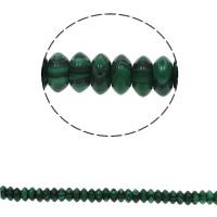 Malachit Perle, flache Runde, synthetisch, 6.5x3mm, Bohrung:ca. 1.5mm, ca. 134PCs/Strang, verkauft per ca. 15.7 ZollInch Strang