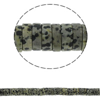Dalmatinische Perlen, Dalmatiner, Scheibe, natürlich, 15x5mm, Bohrung:ca. 1.5mm, ca. 77PCs/Strang, verkauft per ca. 15.7 ZollInch Strang