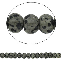 Dalmatinische Perlen, Dalmatiner, Rondell, natürlich, gewellt, 15x10mm, Bohrung:ca. 1.5mm, ca. 40PCs/Strang, verkauft per ca. 15.7 ZollInch Strang