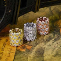 Befestiger Zirkonia Sterlingsilber Perlen, 925 Sterling Silber, Zylinder, plattiert, Micro pave Zirkonia, gemischte Farben, 7.90x9.30mm, Bohrung:ca. 3-5mm, 10PCs/Menge, verkauft von Menge