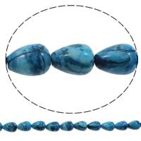 Natürliche verrückte Achat Perlen, Verrückter Achat, Tropfen, blau, 18x26mm, Bohrung:ca. 1mm, Länge:ca. 15 ZollInch, 5SträngeStrang/Tasche, ca. 16PCs/Strang, verkauft von Tasche