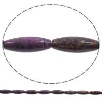 Natürliche verrückte Achat Perlen, Verrückter Achat, oval, violett, 30x10mm, Bohrung:ca. 1mm, Länge:ca. 15 ZollInch, 5SträngeStrang/Tasche, ca. 18PCs/Strang, verkauft von Tasche