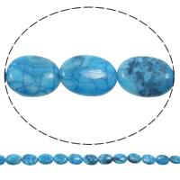 Natürliche verrückte Achat Perlen, Verrückter Achat, flachoval, blau, 15x20x7mm, Bohrung:ca. 1mm, Länge:ca. 15 ZollInch, 5SträngeStrang/Tasche, ca. 20PCs/Strang, verkauft von Tasche