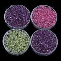 Innen Farben Glas Rocailles, Glas-Rocailles, rund, keine, 3x3.6mm, Bohrung:ca. 1.5mm, ca. 1110PCs/Tasche, verkauft von Tasche