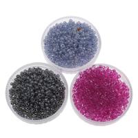 Innen Farben Glas Rocailles, Glas-Rocailles, rund, keine, 2x1.9mm, Bohrung:ca. 1mm, ca. 6660PCs/Tasche, verkauft von Tasche