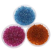 Silbereinzug Glas Rocailles, Glas-Rocailles, rund, keine, 2x1.9mm, Bohrung:ca. 1mm, ca. 6660PCs/Tasche, verkauft von Tasche