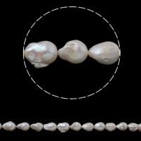 Kultivierte kernhaltige Süßwasserperlen, kultivierte Süßwasser kernhaltige Perlen, Keishi, natürlich, weiß, 15-18mm, Bohrung:ca. 0.8mm, verkauft per ca. 15.3 ZollInch Strang