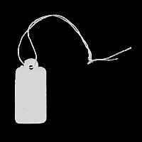 Schmuck Preisschild, Papier, mit Baumwolle, Rechteck, 16x26x0.20mm, 500PCs/Tasche, verkauft von Tasche