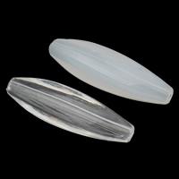 Transparente Acryl-Perlen, Acryl, oval, verschiedene Stile für Wahl, 37x10mm, Bohrung:ca. 1.5mm, 2Taschen/Menge, ca. 235PCs/Tasche, verkauft von Menge