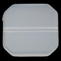 Gelee-Stil-Acryl-Perlen, Acryl, Achteck, Gellee Stil, weiß, 17x17x3.50mm, Bohrung:ca. 1mm, 2Taschen/Menge, ca. 500PCs/Tasche, verkauft von Menge