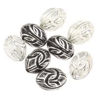 Silberdruck Acrylperlen, Acryl, oval, keine, 8x10mm, Bohrung:ca. 1mm, ca. 1400PCs/Tasche, verkauft von Tasche