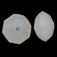 Gelee-Stil-Acryl-Perlen, Acryl, Rondell, facettierte & Gellee Stil, weiß, 18x13mm, Bohrung:ca. 1mm, 2Taschen/Menge, ca. 205PCs/Tasche, verkauft von Menge