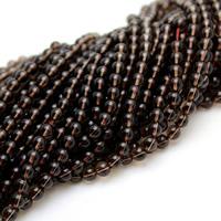 Natürliche Rauchquarz Perlen, rund, verschiedene Größen vorhanden, Bohrung:ca. 1-1.5mm, verkauft per ca. 15 ZollInch Strang